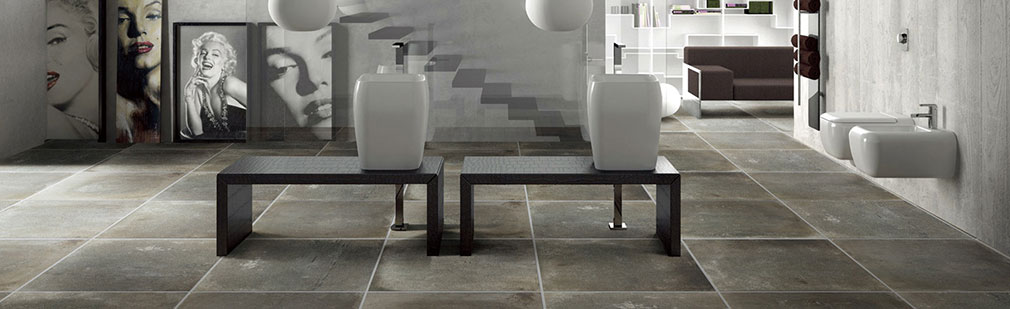 Porcelain tiles are beautiful and ideal for high-traffic areas.