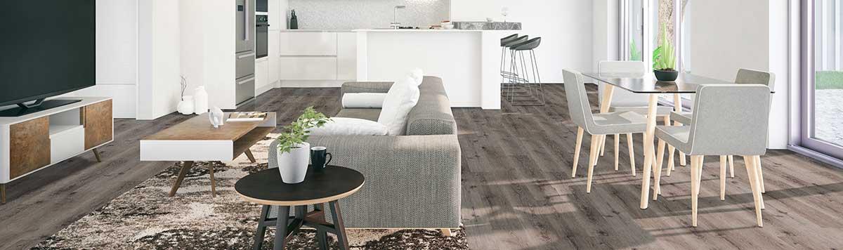 Durable, easy to clean vinyl flooring planks.