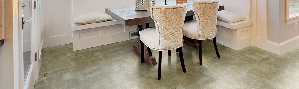Vinyl tile floors are softer than natural stone or wood floors.